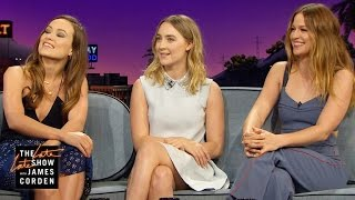 Superhero Talk W Melissa Benoist, Olivia Wilde & Saoirse Ronan