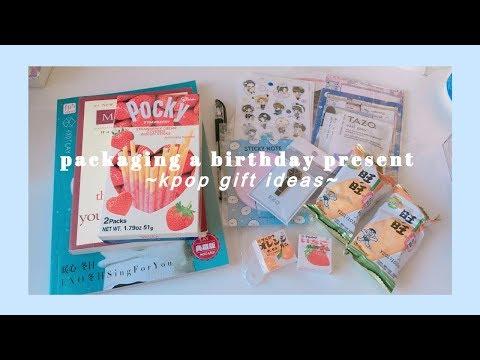 packaging a birthday present | kpop gift ideas