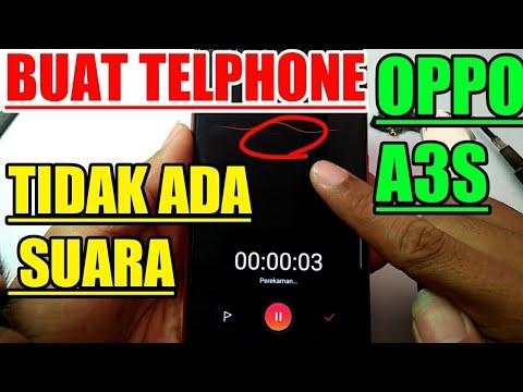 solusi oppo a3s tidak ada suara saat telphone | mic mati | mic problem