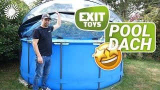 EXIT Pool Abdeckung Aufbau - Anleitung und Unboxing