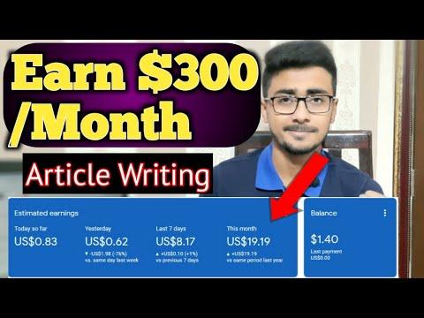, title : 'Earn $300/Month as Article Writer | Earn Money Online by Article Writing | Earn Money Online
