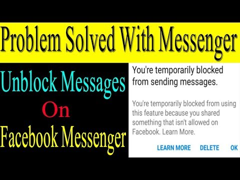 How To Unblock Temporary Sending Message Block In Facebook Messenger | Urdu Guideline
