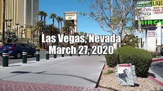 Riding The Las Vegas Strip On March 27, 2020