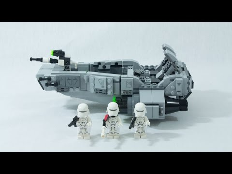 Vidéo LEGO Star Wars 75100 : Snowspeeder du Premier Ordre