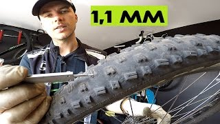 IN DEPTH Tutorial - When To Replace a Mountain / Road Bike Tires. Tire Wear Indicators