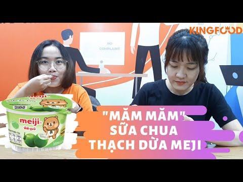 Mở Hộp Sữa Chua Thạch Dừa Meji Xem Có Gì Hot Nào? | Kingfood Market