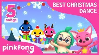 Christmas Sharks and more | Dance Dance | +Compilation | Pinkfong Songs for Children