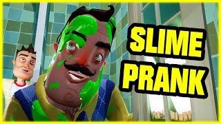 SLIME PRANK IN THE NEIGHBOR'S BATH!!