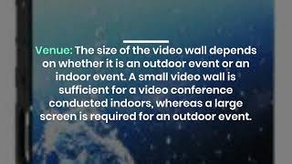 How LED Video Wall Rental Can be a Smart Choice in Dubai?
