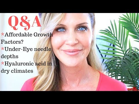 FRIDAY Q&A | Affordable Growth Factor Serum? | Hyaluronic Acid in Dry Climates | Needling under eyes