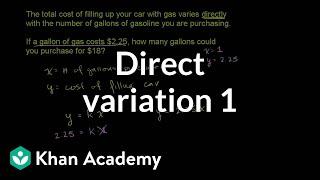 Direct Variation 1