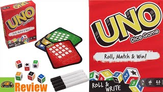 Uno Dice Game Roll & Write - | Review | How to Play | GameEnthus