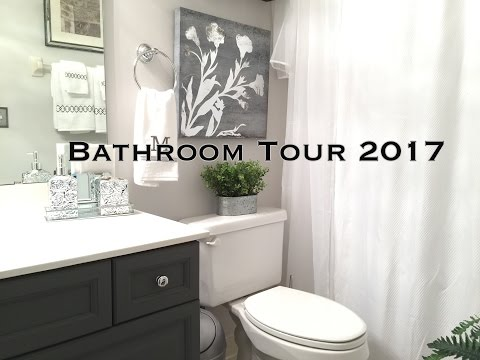Bathroom Decorating Ideas Tour On A Budget In This Video I Share With You My Small