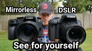 Panasonic Lumix G7 vs Canon Rebel EOS T7i hands on comparison