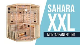 Infrarotsauna: Sahara XXL mit Vollspektrumstrahler (Montageanleitung)