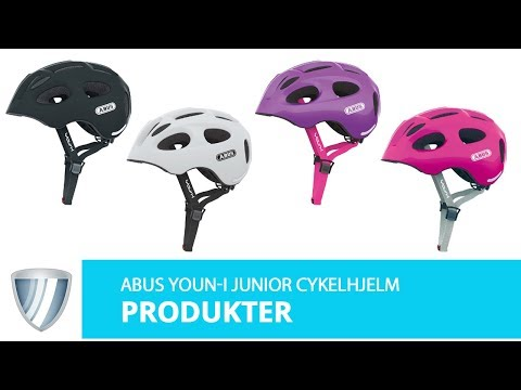 Abus Youn-I Junior hjelm pink video