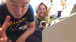 🔴 Live Jazz Sax and Piano