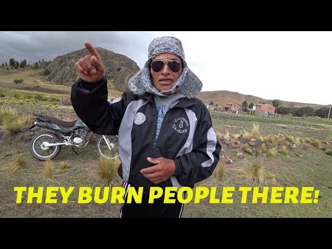 "Guy goes to a small town in Bolivia - Doesn't realize locals are warning him that ""people burn people alive there"" until someone translates it in YouTube comments"