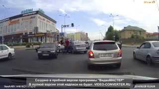 Астана. район Евразии. Драка водителей.