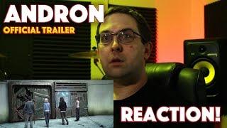 REACTION Andron Official Trailer  Alec Baldwin SciFi Movie