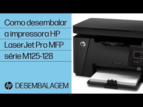 Como desembalar a impressora HP LaserJet Pro MFP série M125-128
