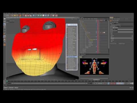 Cinema 4D Rigging 07 - A Look at Eye and Jaw Controls using