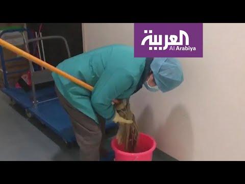 العرب اليوم - شاهد: عمال التنظيف الجندي المجهول في الصفوف الأولى للحرب مع