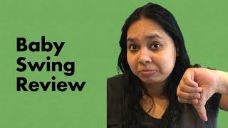 Ingenuity Swing n go Portable swing (Hugs & Hoots) 2020   baby swing review   amazon baby swing