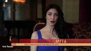 Arij Nasri Miss Tunisie 2015 contestant introduction