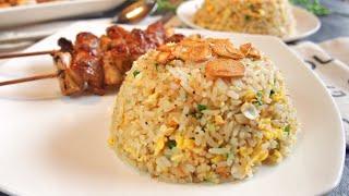 SECRET REVEALED! BEST Garlic Fried Rice 蒜蓉炒饭
