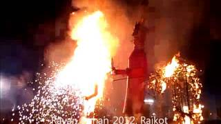 preview picture of video 'Ravan Dahan-2012 Rajkot'
