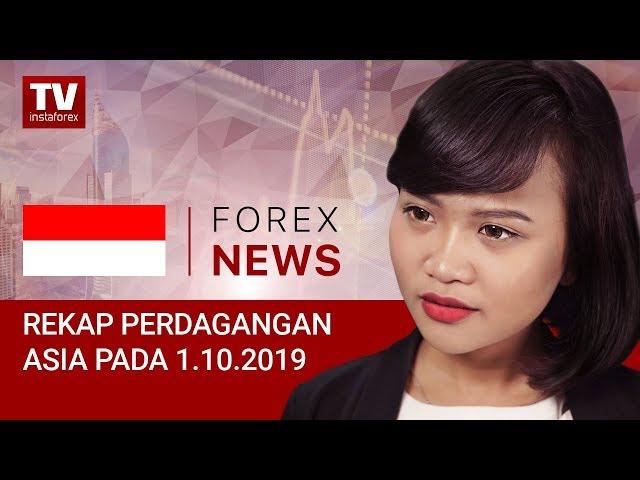 01.10.2019: USD tunjukkan kekuatan selama perdagangan Asia (USD, JPY, AUD)