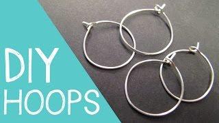 DIY Hoop Earrings / Wine Charm Rings Wire Jewelry Tutorial