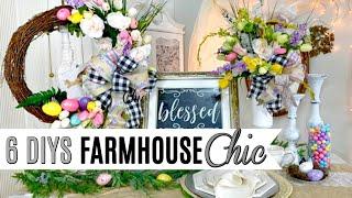 🌷6 DIY DOLLAR TREE DECOR CRAFTS FARMHOUSE CHIC SPRING EASTER🌷I LOVE SPRING Ep3 Olivia Romantic Home