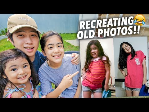 RECREATING OUR OLD PHOTOS!! (Hilarious!!) | Ranz and Niana