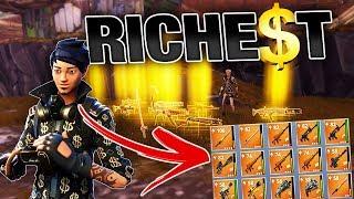Richest Kid gives me RAREST Guns & Swords! | Fortnite Save the World PVE