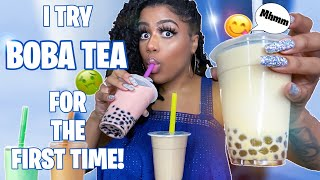 ASMR | Trying Boba Bubble Tea For The FIRST TIME (Drinking Sounds)
