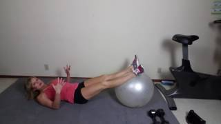Ball hamstring curls for your legs For day 28 of our Jumpstart