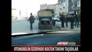 Otomobil Üzerinde Koltuk Takımı Taşımak