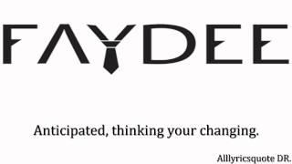 Faydee  - Better off alone lyrics.