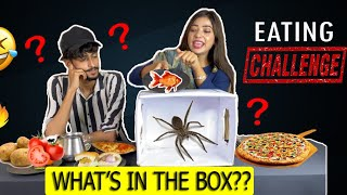WHATS IN THE BOX FOOD EATING CHALLENGE | Spicy Pizza Eating Competition | Food Challenge
