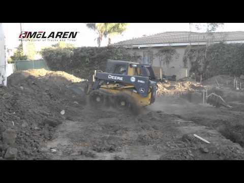 Forza Construction using McLaren Over-the-Tire Skid Steer Tracks