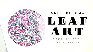 ARTIST STUDIO VLOG LEAF ART ILLUSTRATION WATERCOLOR LEAVES DRAWING PAINTING AN ETSY PRINTABLE ART