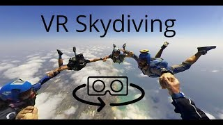 3D 360 VR skydiving experience with the Vuze camera