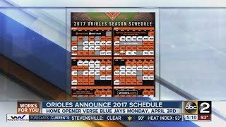 Orioles release 2017 schedule