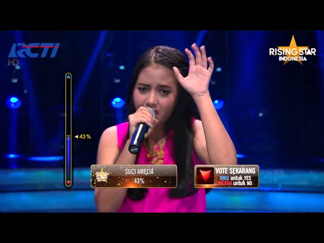 Hanin Dhiya Because Of You Kelly Clarkson Rising Star Indonesia Live Duels 1 Eps 9