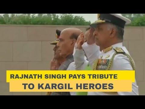 Rajnath Singh pays tribute to Kargil Heroes at Delhi's War Memorial