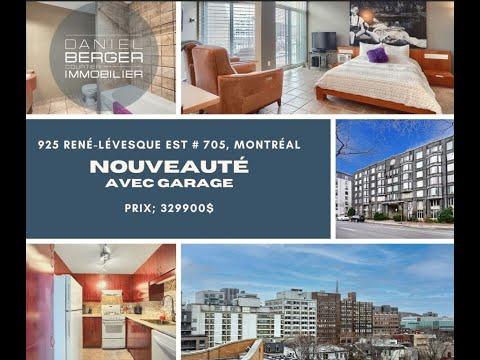 Bienvenue dans notre visite virtuelle du 925 René-Lévesque Est # 705, Montréal