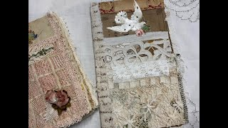 Tutorial   Making An Antique Lace Journal Part 2   Finishing The Cover And Preparing Pages