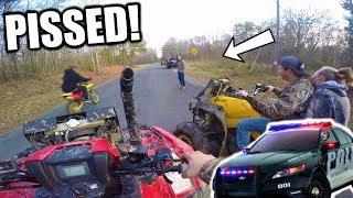 ANGRY LADY CALLS THE COPS! | Fourwheeler MAYHEM